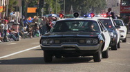 Vintage police car - Martin Luther King Parade - Los Angeles 2011 Stock Footage