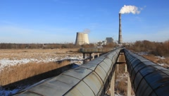 Heat electropower station - stock footage