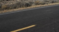 Stock Video Footage of Traveling a desert Highway