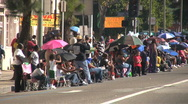 Spectators - Martin Luther King Parade - Los Angeles 2011 Stock Footage