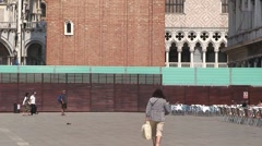 Campanile Tower in St Mark's Square Stock Footage