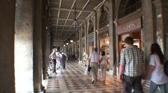 Shopping Arcade in Venice Stock Footage