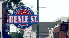 Beale st neon sign Stock Footage