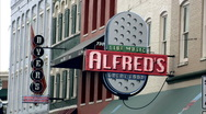 Beale st, alfred's neon sign Stock Footage
