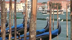 Gondolas and Moorings - stock footage