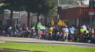 Stock Video Footage of Spectators - Martin Luther King Parade - Los Angeles 2011