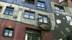 Hundertwasserhaus In Vienna Austria Stock Footage