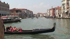Gondola on Grand Canal Stock Footage