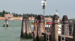Venice Ambulance Boat Stock Footage