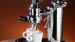 Expresso Coffee Machine Stock Footage
