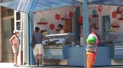 Ice Cream Stand Stock Footage