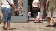 Roman Basilica Entrance Stock Footage