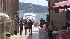 Porec Tourists Stock Footage