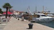 Stock Video Footage of Porec Harbor Walk