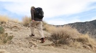 Stock Video Footage of Man Hiking