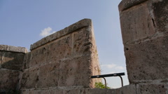 Acre fortress cannon P2 - stock footage