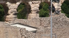 Pula Ancient Roman Arena Stock Footage