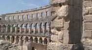 Roman Amphitheater Stock Footage