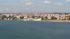 Porec Old & New Towns Stock Footage