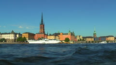 Sea cruise in Stockholm, Sweden Stock Footage
