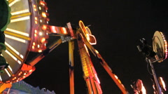 Extreme fairground ride3 Stock Footage