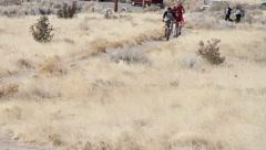 Mountain bikers 7 Stock Footage