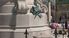 Tartini Statue and Bell Tower Stock Footage