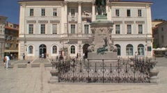 Tartini Statue and Civic Building Stock Footage