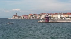 Boat in Piran Stock Footage