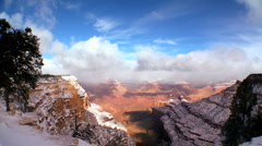Time-lapse Clouds Over Grand Canyon Snow Arkistovideo