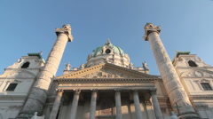 Karlskirche in Vienna Stock Footage