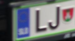 Ljubljana License Plate Stock Footage