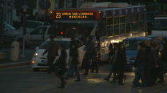 Pedestrians & traffic in Rome (Late evening) - stock footage
