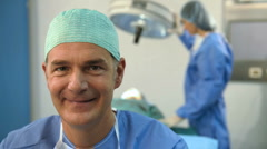 Portrait of A Smiling Male Surgeon Stock Footage