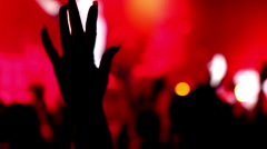 Concert cheering crowd - stock footage