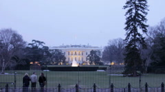 White House at Christmas Stock Footage