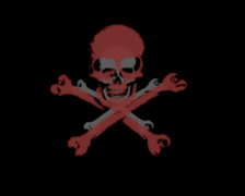 720 X 576 - Skulls Vj Loops 003 Stock Footage