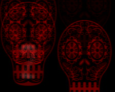720 X 576 - Skulls Vj Loops 005 Stock Footage