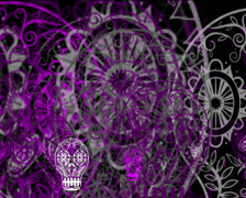 720 X 576 - Skulls Vj Loops 011 Stock Footage