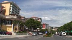 Portorose Hotels Stock Footage