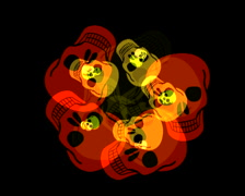 720 X 576 - Skulls Vj Loops 019 Stock Footage