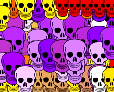 720 X 576 - Skulls Vj Loops 020 Stock Footage