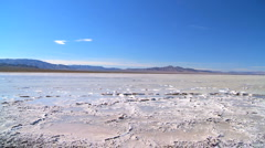 Stock Video Footage of Barren Landscape of Salt Lake Flats