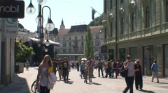 Stock Video Footage of Central Ljubljana