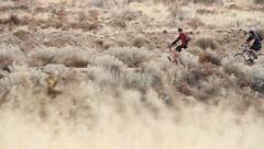 Mountain bikers 4 Stock Footage
