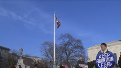 Stock Video Footage of Pro-Choice rally at U.S. Supreme Court
