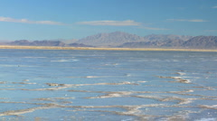 Flat Lands of a Vast Salt Lake Stock Footage