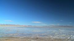 Flat Lands of a Vast Salt Lake Stock Footage