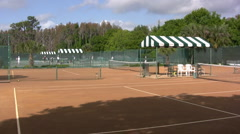 Red Clay Tennis Court 3 Stock Footage