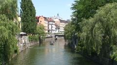 River Ljubljanica Stock Footage
